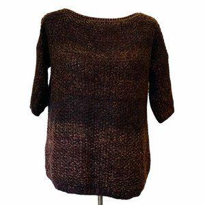 Elsamanda Womens Pullover Sweater Brown Melange L